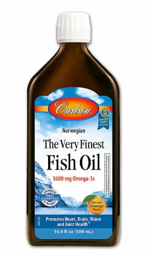Carlson  Norwegian The Very Finest Fish Oil   Orange Perspective: front