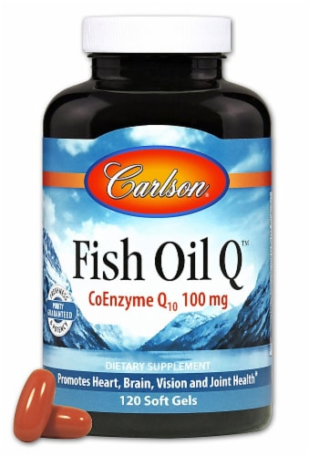 Carlson Fish Oil Q™ Soft Gels 100 mg Perspective: front
