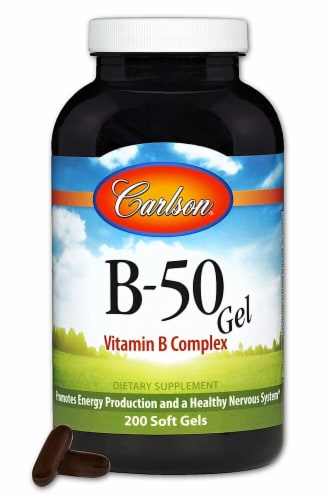 Carlson B-50 GEL Supplements Perspective: front