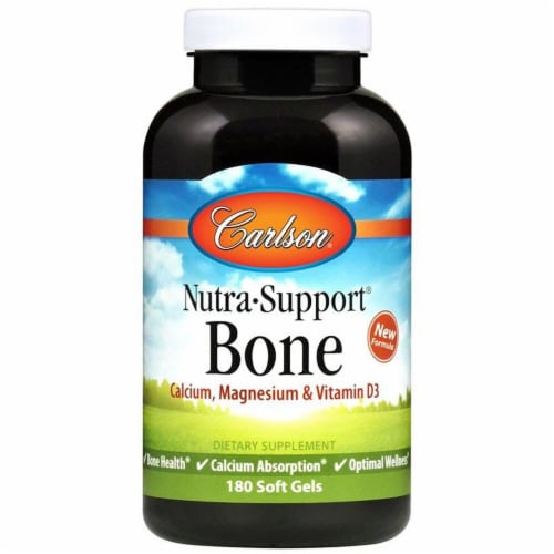 Carlson  Nutra•Support® Bone Dietary Supplement Perspective: front