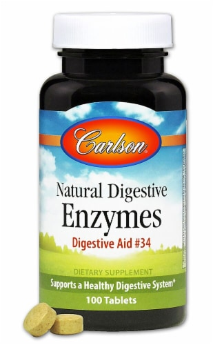 Carlson  Natural Digestive Enzymes Digestive Aid #34 Perspective: front