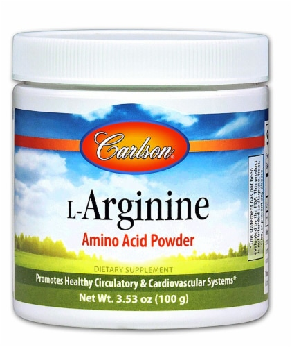 Carlson L-Arginine Amino Acid Powder Perspective: front