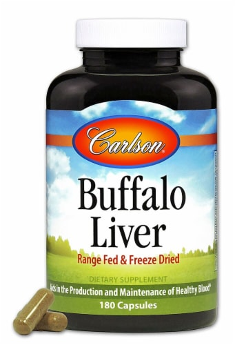 Carlson Buffalo Liver Supplements Perspective: front