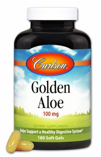 Carlson Golden Aloe Softgels 100 mg Perspective: front