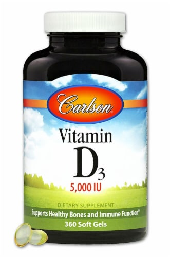 Carlson Vitamin D3 Supplements Perspective: front