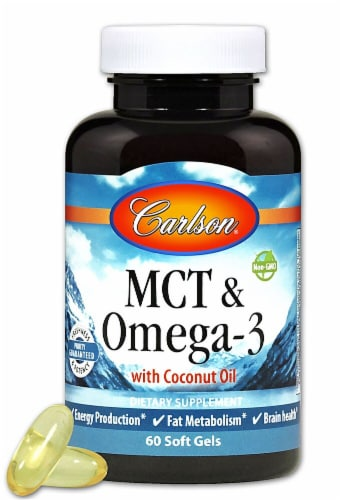 Carlson  MCT & Omega-3 with Coconut Oil Perspective: front