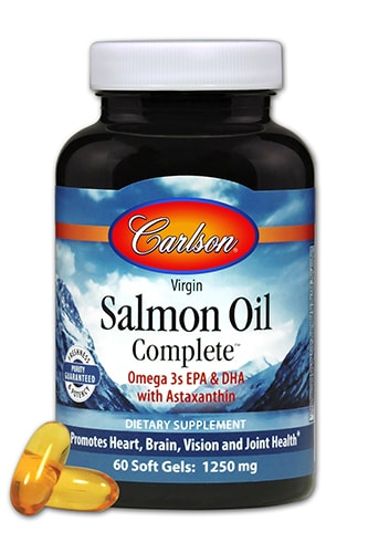 Carlson Salmon Oil Complete Perspective: front
