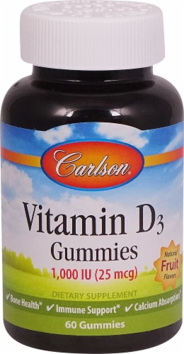 Carlson Vitamin D3 Gummies 25mcg Perspective: front
