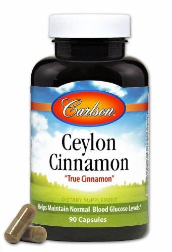 Carlson Ceylon Cinnamon Capsules Perspective: front