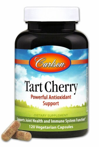 Carlson Tart Cherry Antioxidant Support Capsules 500mg Perspective: front