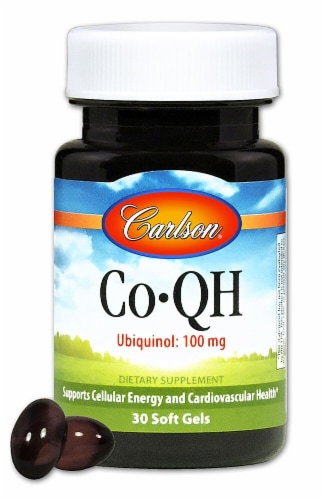 Carlson CO-QH Ubiquinol Supplements Perspective: front