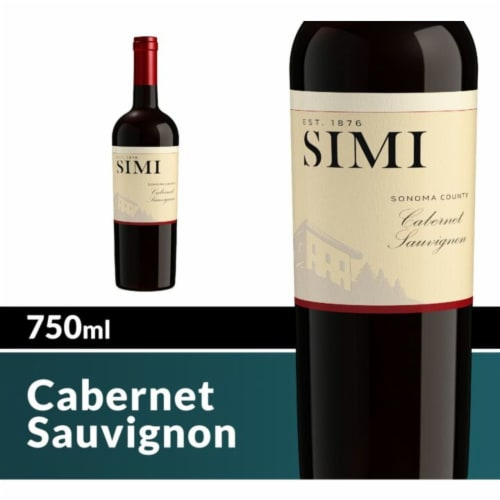 SIMI Winery Alexander Valley Cabernet Sauvignon Red Wine Perspective: front