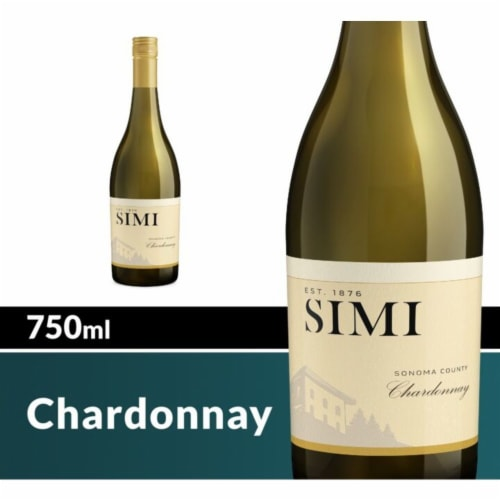 Simi Sonoma County Chardonnay White Wine Perspective: front
