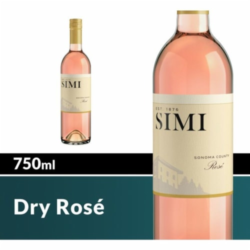 SIMI Sonoma County Dry Rose Blush Wine Perspective: front