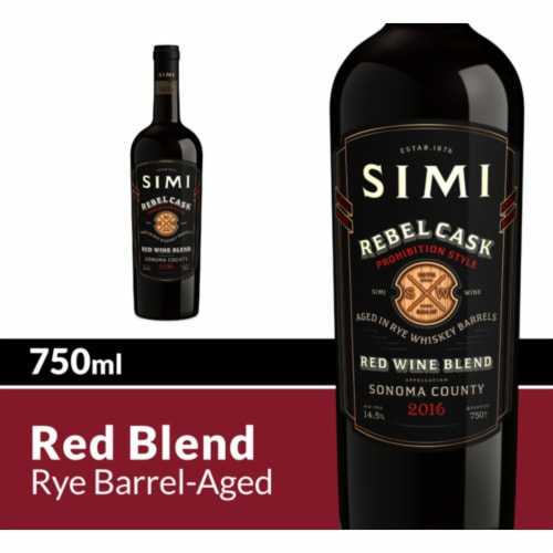 Simi Winery Rebel Cask Red Wine Blend Perspective: front