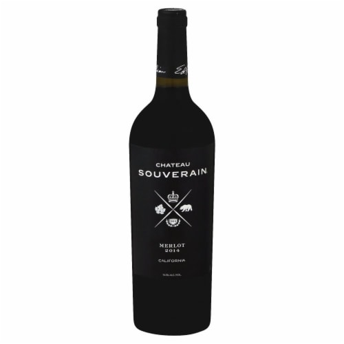 Chateau Souverain Merlot Red Wine Perspective: front
