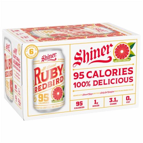 Shiner Ruby Redbird Beer Perspective: front