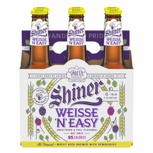 Shiner Weisse 'N' Easy Beer Perspective: front