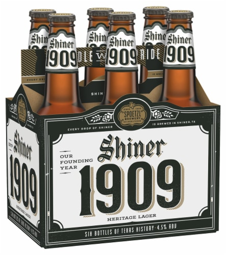 Shiner® 1909 Heritage Lager Beer Perspective: front