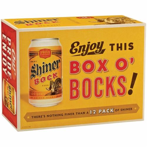 Shiner Bock Box O' Bocks! Beer Perspective: front