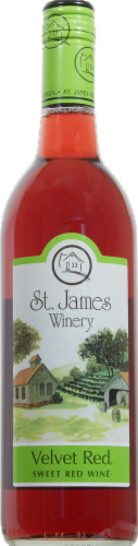St. James Winery Velvet Red Perspective: front
