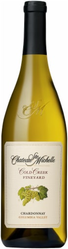 Chateau Ste. Michelle Cold Creek Vineyard Riesling Wine Perspective: front