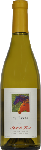 """14 Hands """"Hot To Trot"""" White Blend 750 mL Perspective: front"""