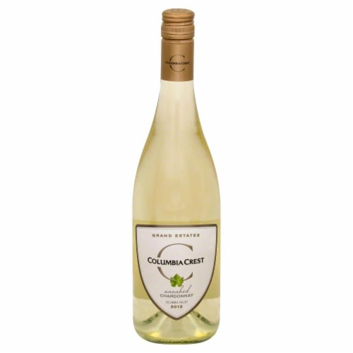 Columbia Crest Chardonnay Unoaked Grand Estates Columbia Valley 750 mL Perspective: front