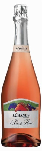 14 Hands Brut Rose Methode Champenoise Perspective: front
