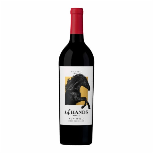 14 Hands Run Wild Juicy Red Blend Red Wine Perspective: front