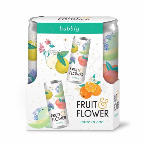Fruit & Flower Bubbly Wine Perspective: front