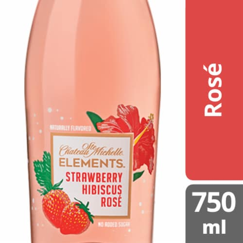 Chateau Ste Michelle Elements Strawberry Hibiscus Rose Wine Perspective: front
