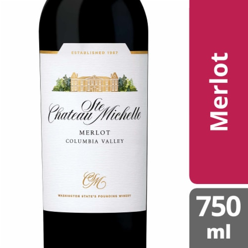 Chateau Ste. Michelle Merlot Red Wine Perspective: front