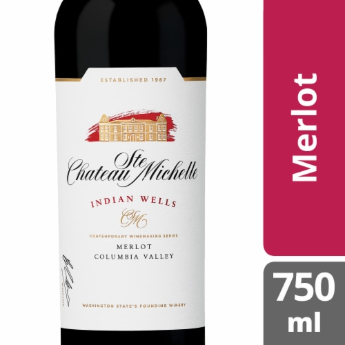 Chateau Ste Michelle Indian Wells Merlot Red Wine Perspective: front