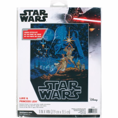 Dimensions® Star Wars Luke and Princess Leia Counted Cross Stitch Kit Perspective: front