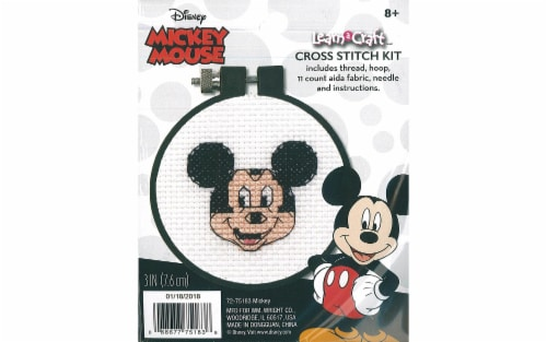"""Dimensions Cross Stitch Kit 3"""" LAC Mickey Perspective: front"""