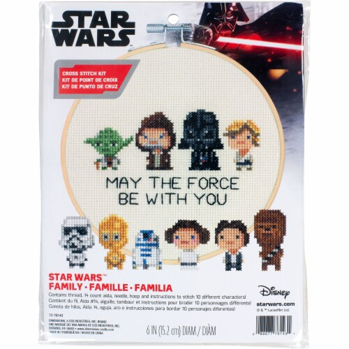 Dimensions® Star Wars™ Family Counted Cross Stitch Kit Perspective: front
