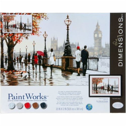 Dimensions® PaintWorks™ Thames View Paint by Number Kit Perspective: front