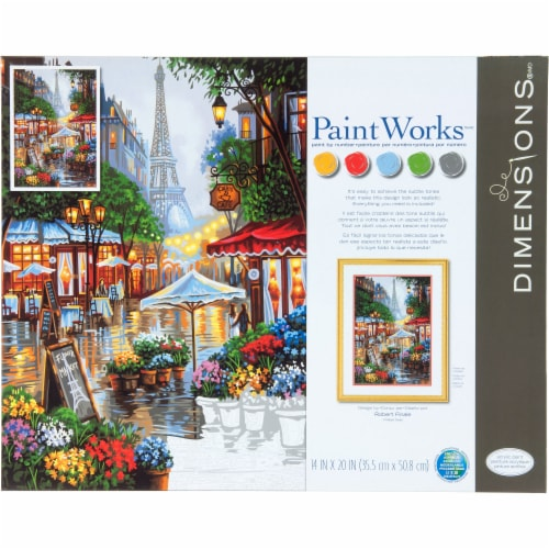 Dimensions® Paintworks™ Springtime in Paris Paint by Number Kit Perspective: front