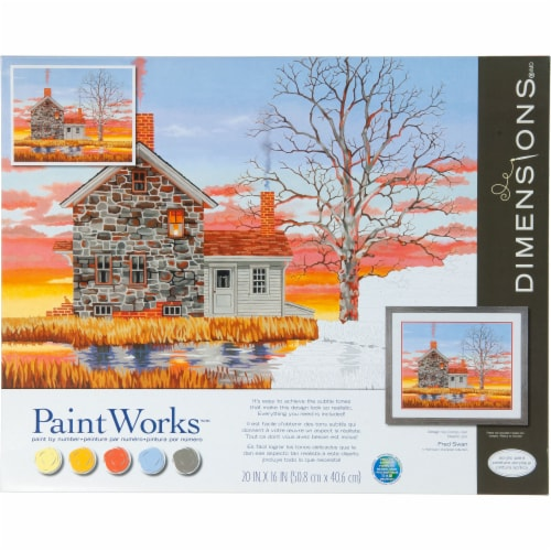 Dimensions® PaintWorks™ Home at Sunset Paint by Number Kit Perspective: front