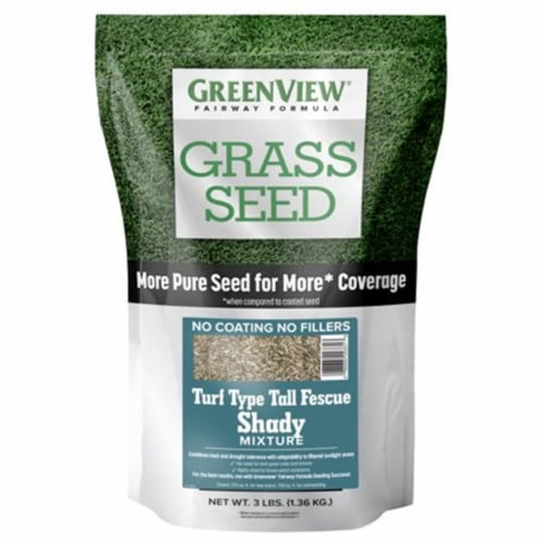 Greenview 28-29331 3 lbs Fairway Formula Grass Seed Turf Type Tall Fescue Shady Mixture Perspective: front