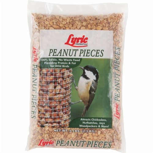 Lyric Chickadee and Nuthatch Wild Bird Food Peanut Pieces 5 lb. - Case Of: 1; Perspective: front