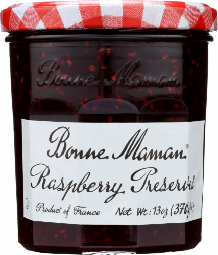 Bonne Maman Raspberry Preserves Perspective: front