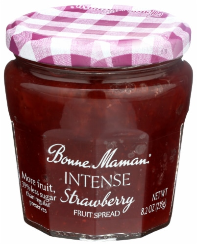Bonne Maman Intense Strawberry Fruit Spread Perspective: front