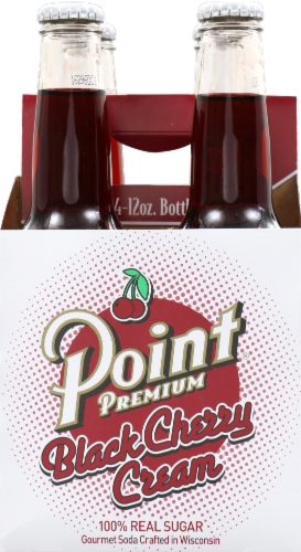 Point Premium Black Cherry Cream Soda Perspective: front