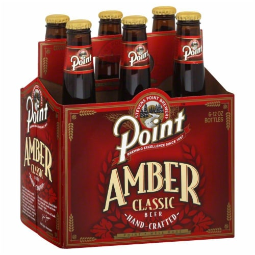 Steven's Point Brewery Amber Classic Beer Perspective: front