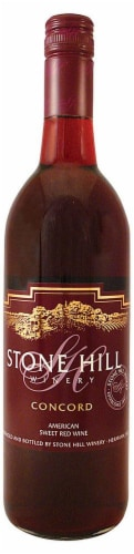 Stone Hill Concord Sweet Red Wine Perspective: front