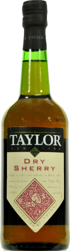 Taylor Dry Sherry Perspective: front