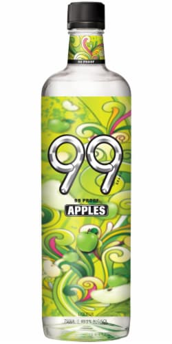 99 Apple Schnapps Cordial Perspective Front