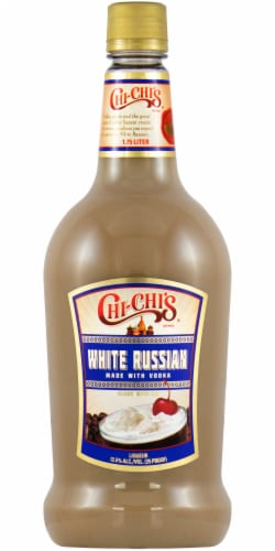 Chi-Chi's White Russian Premade Cocktail Perspective: front